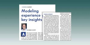 Modelling Experience Yields Key Insights